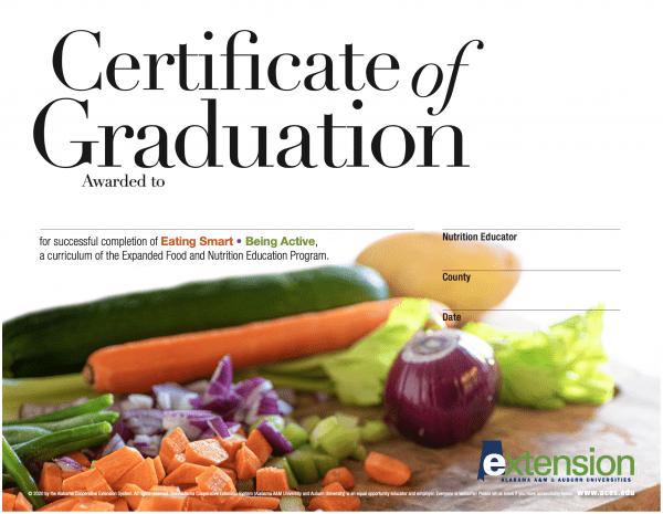 EFNEP Graduation Certificate