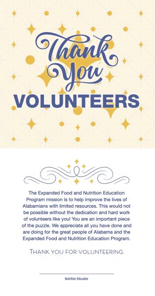 EFNEP Thank You Volunteers