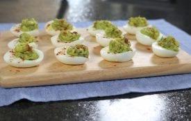 eggs on cutting board