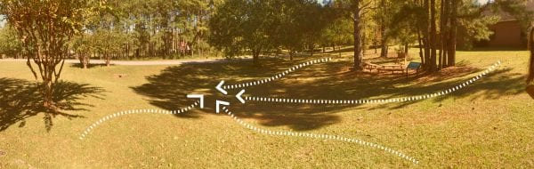Figure 15. Topographical pinch points could be a good location for a rain garden.