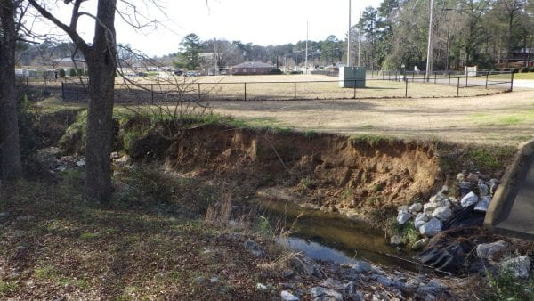 Figure 5. Flashy flows can cause severe erosion in urban streams.