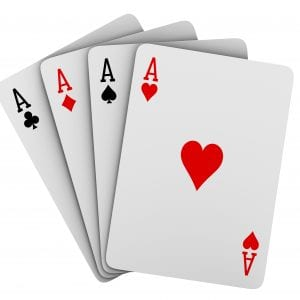 A fan of playing cards
