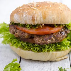 1 homemade hamburger 350 mg sodium