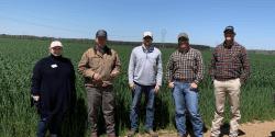 Alabama Extension agents tour a farm in Autauga County