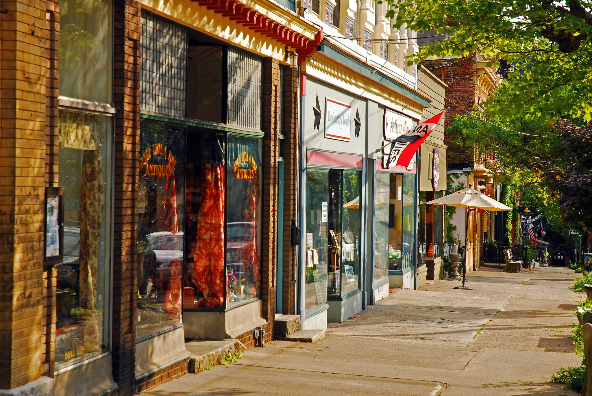 Small town shopping in the Hudson Valley