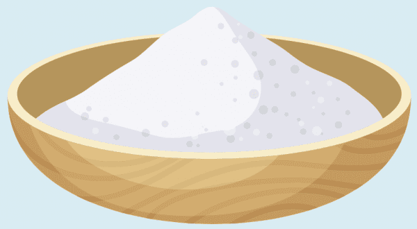 Illustrated bowl of salt
