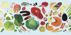 Illustrated foods
