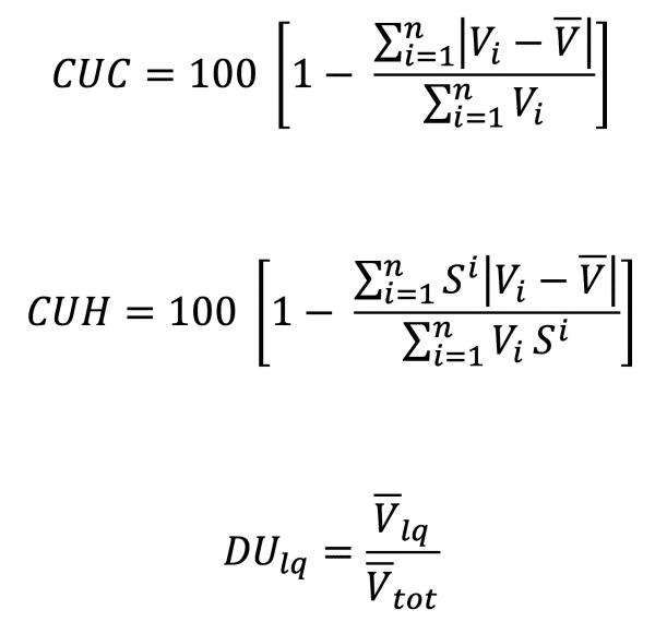 Equations for Assessing Water Application Uniformity and Distribution of Uniformity