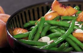 Peachy Green Beans