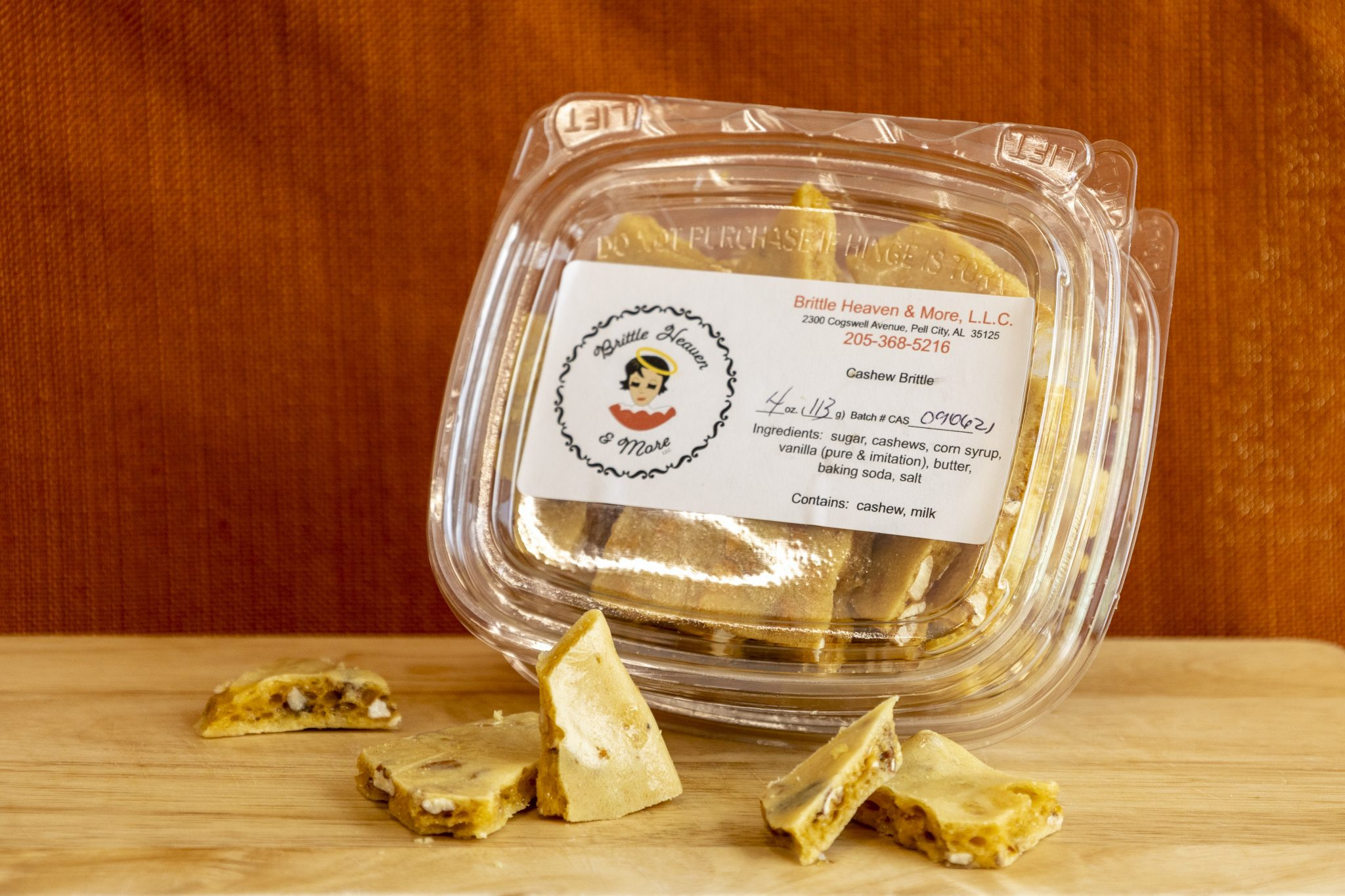 Brittle Heaven & More packaging