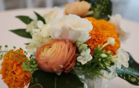 floral arrangement at MG 40th anniversary