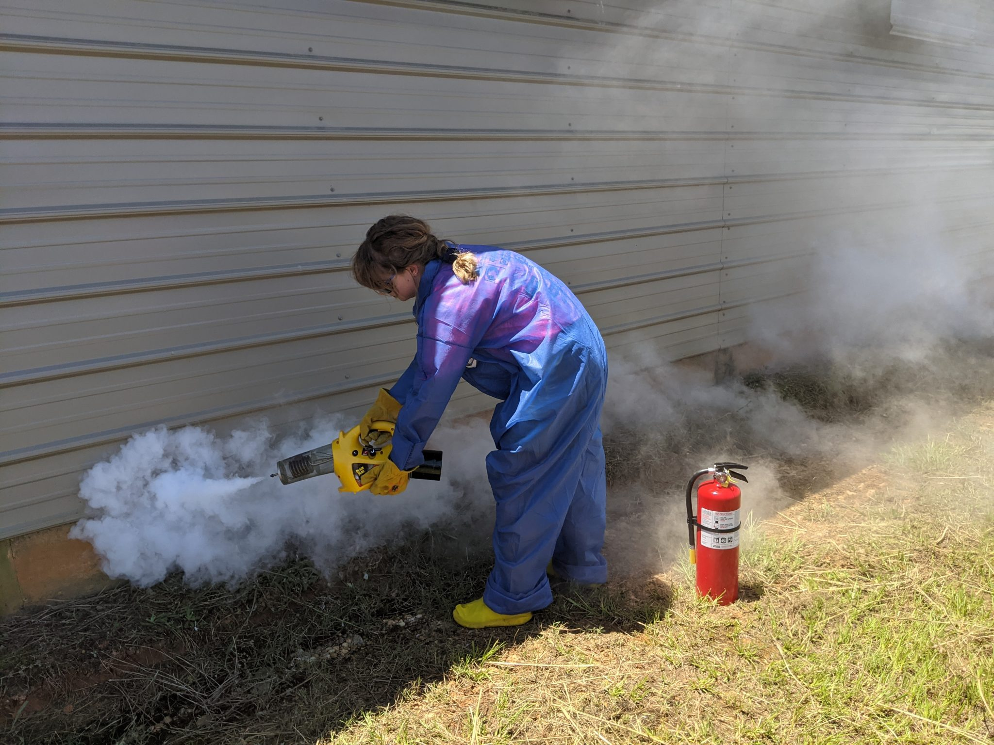 Figure 10. Activate the fogger near an area of interest on the outside of the house.