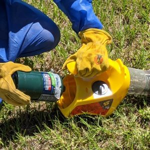 Figure 6b. Connect the propane tank to the fogger.