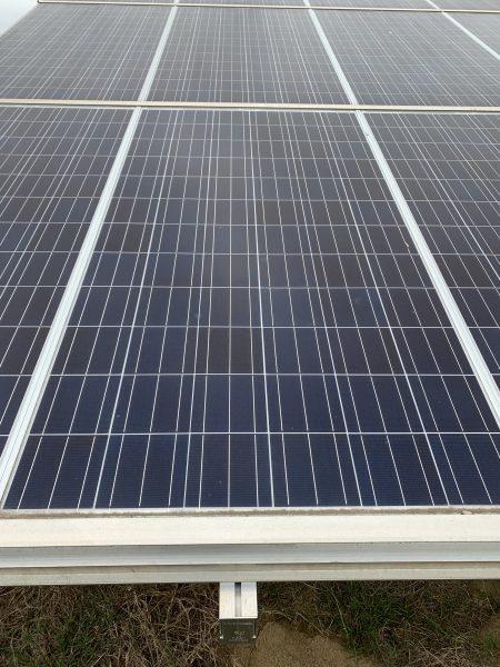 Figure 1. Close-up of typical rigid solar panel.