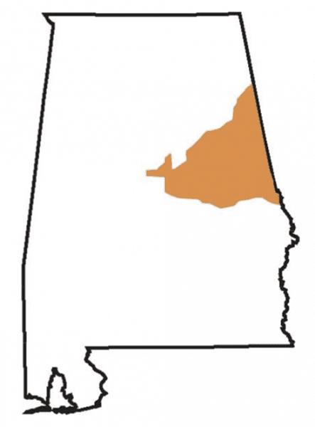 Figure 1. Piedmont soils of Alabama.