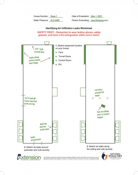 Identifying Air Infiltration Leaks Worksheet Example