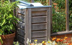 Wooden rain barrel
