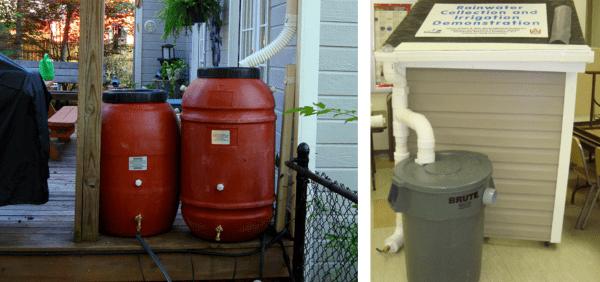 Figure 26. Rain barrel examples